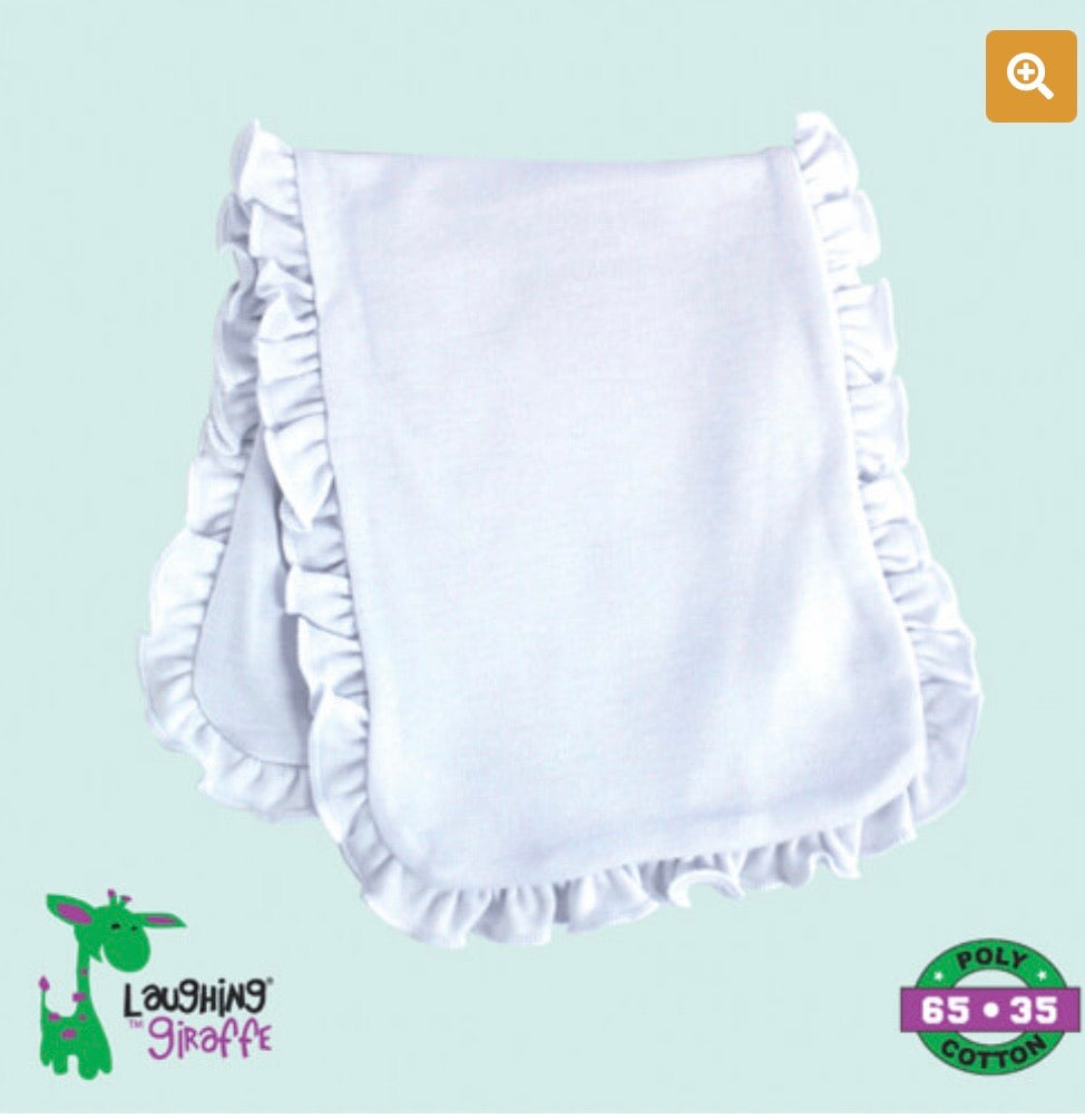 Ruffled Infant Burp Cloth 2 Ply