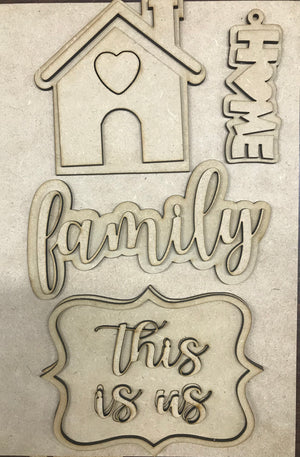 Family Tiered Tray set unfinished
