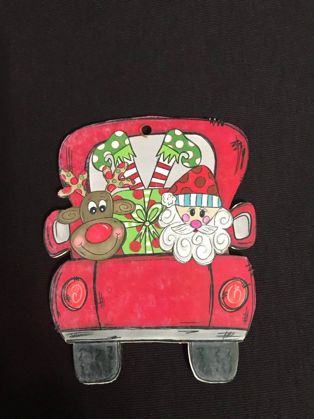 Truck Alicia Ray Art Ornament