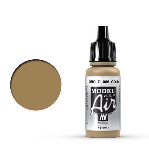 Vallejo Model Air: 066 Gold, 17 ml