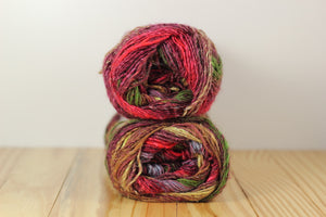 Silk Garden Sock S356 Burgandy Green