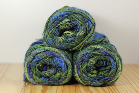 Silk Garden Sock S354 Uruma/Green Blue