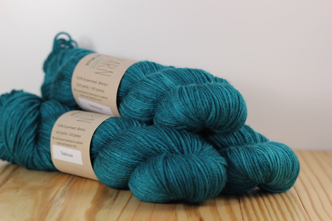 Washable Worsted Wool Tealicious