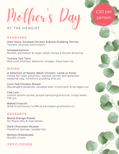 Load image into Gallery viewer, Mothers Day 3 course meal
