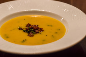 Sunday Starter - Butternut Squash Soup with Pancetta