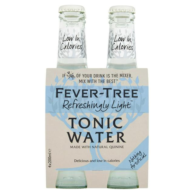 Fever Tree Light Tonic Water 200ml x 4 Pack