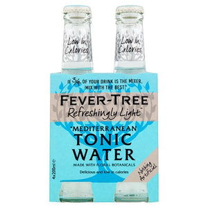 Fever Tree Mediterranean Tonic Water 200ml x 4 Pack