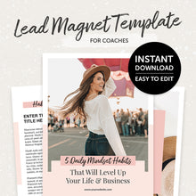 Load image into Gallery viewer, Lead Magnet Template For Coaches – 5 Daily Mindset Habits