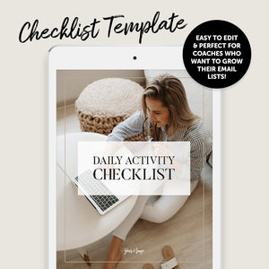Business Coach Checklist Template