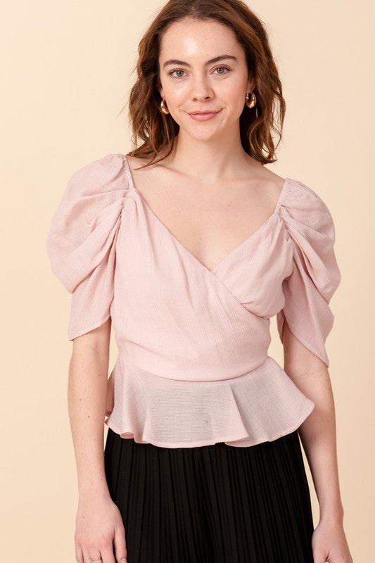 Rosie Wrapover Princess Sleeve Blouse