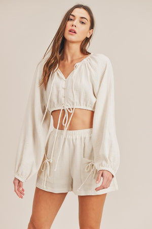 Sabrina Crop Top and Shorts Set