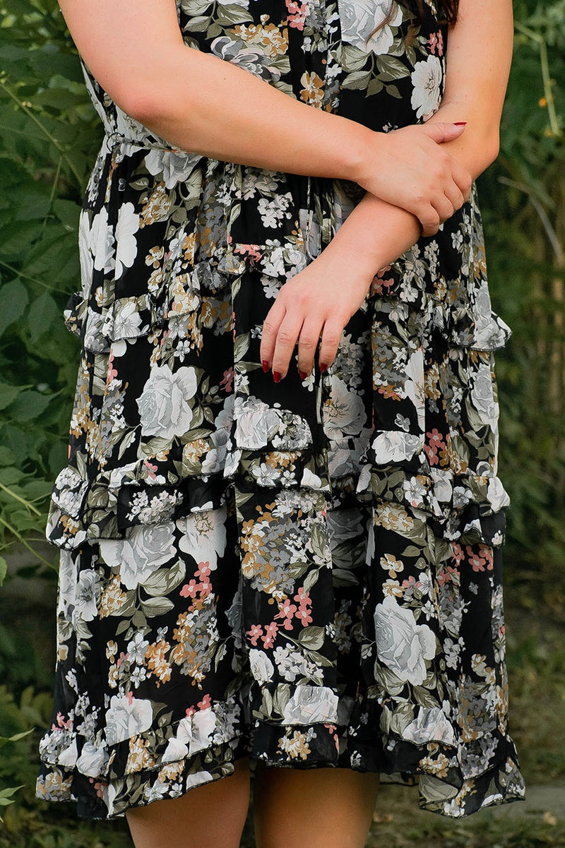 Call it Love Floral Print Midi Dress