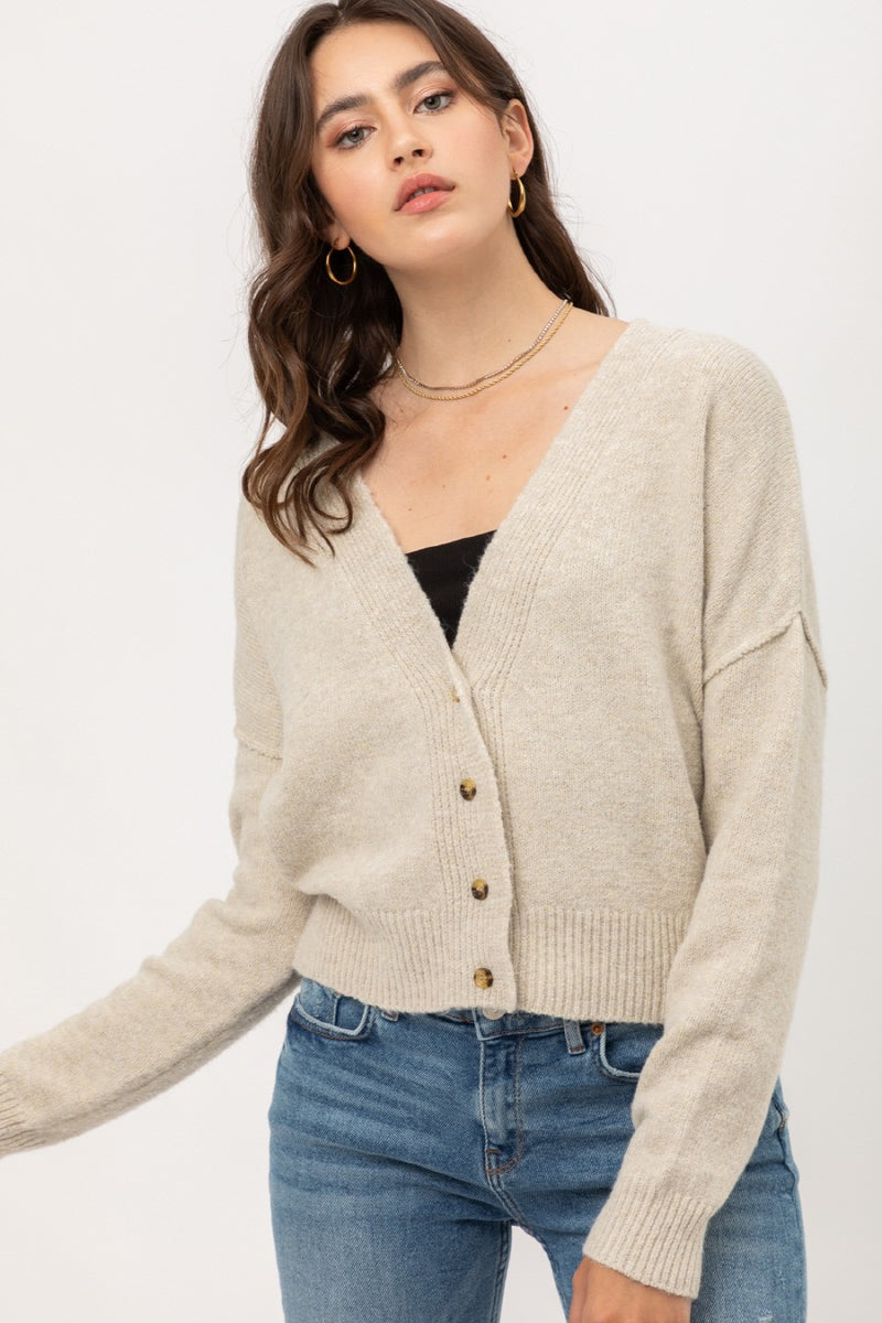 Chai Latte Cropped Cardigan