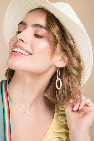 Rustica Hoop Drop Earrings