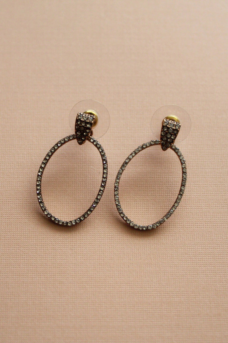Ash Rhinestone Drop Earrings