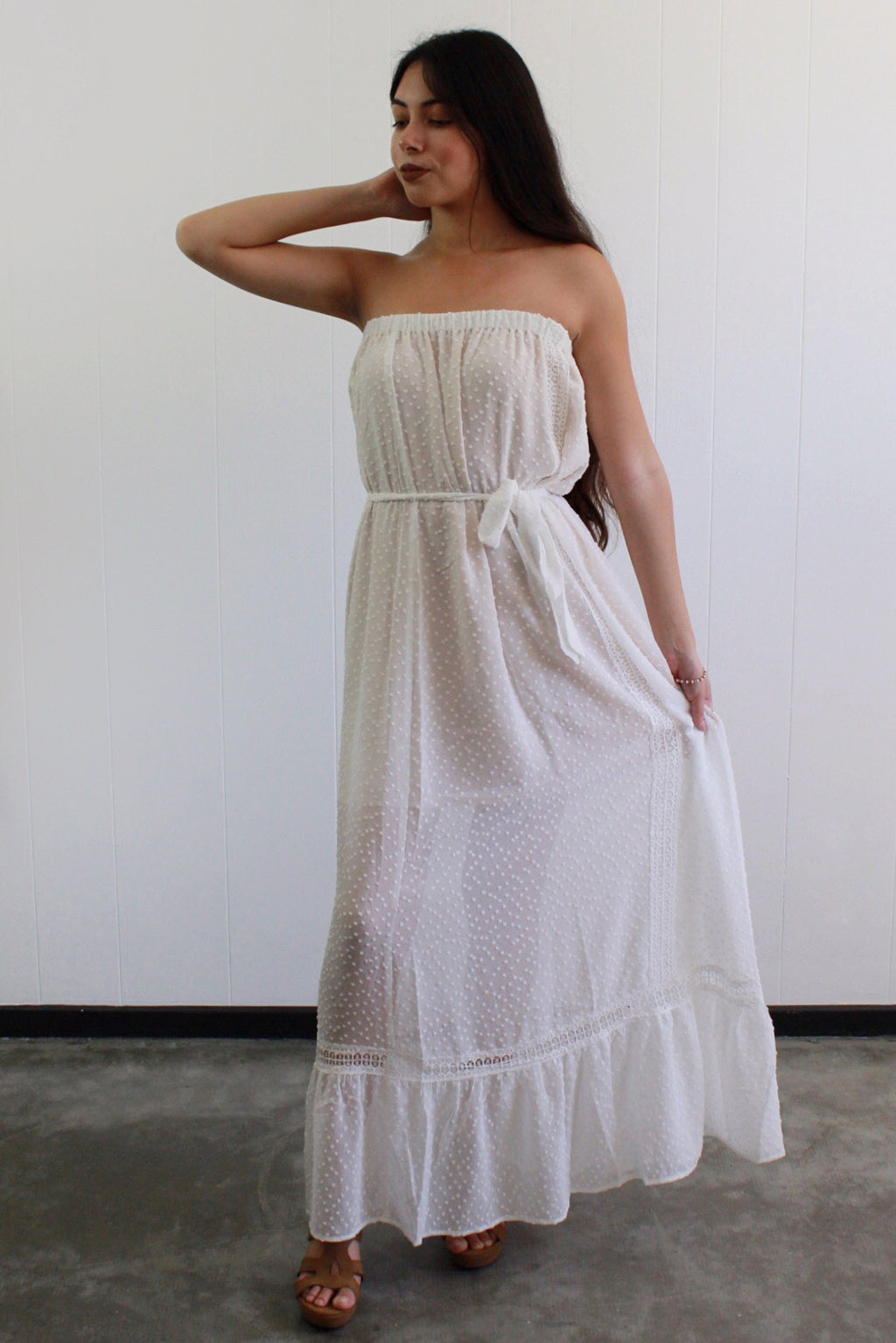 Georgina Strapless Maxi Dress