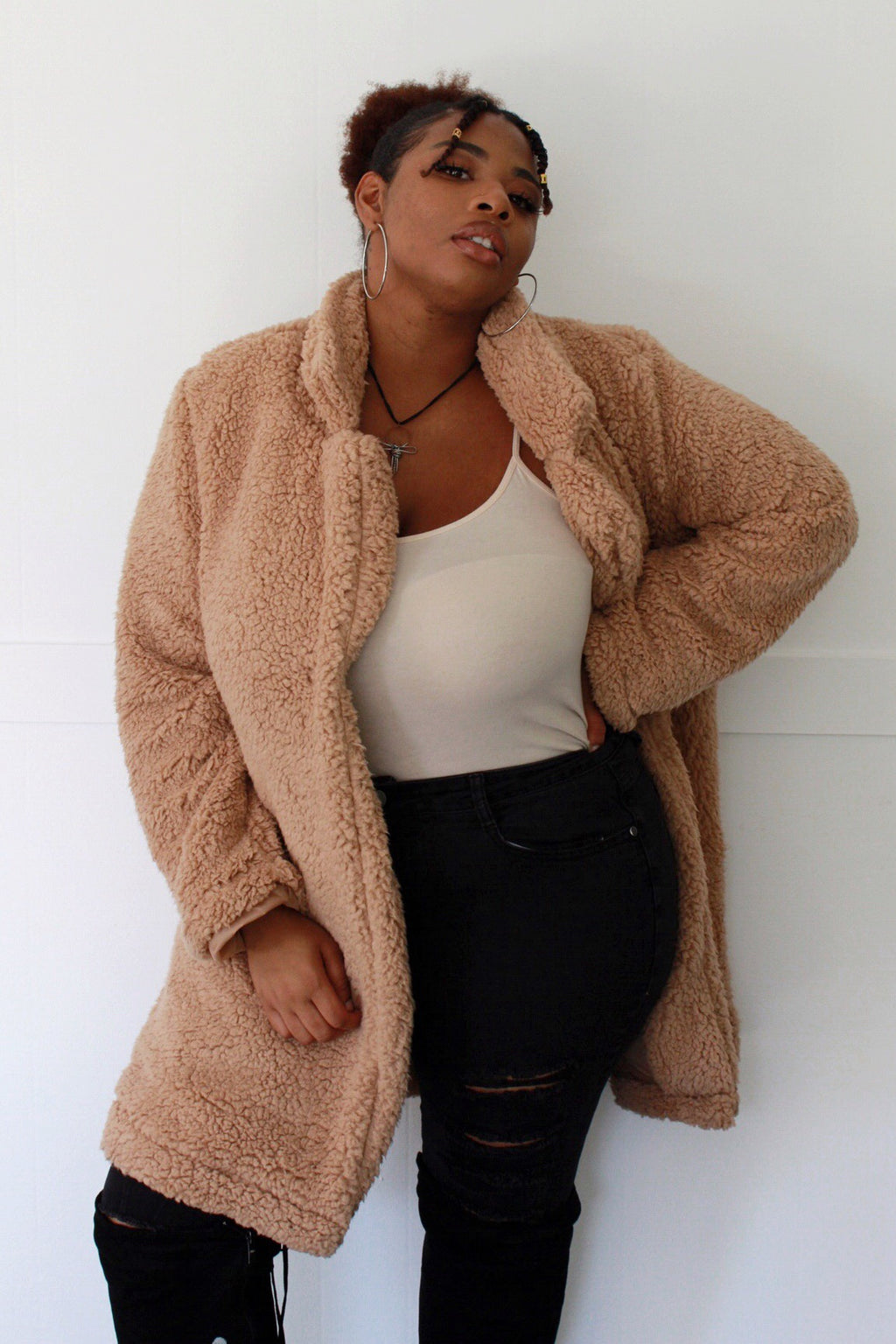 Cuddle Weather Lightweight Faux Fur Teddy Coat