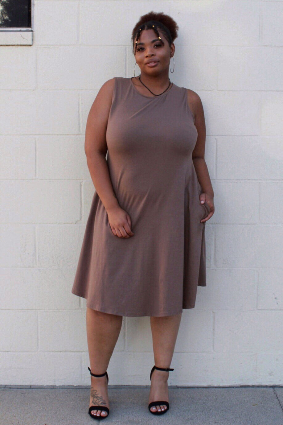 Classic Tank Dress in Mocha