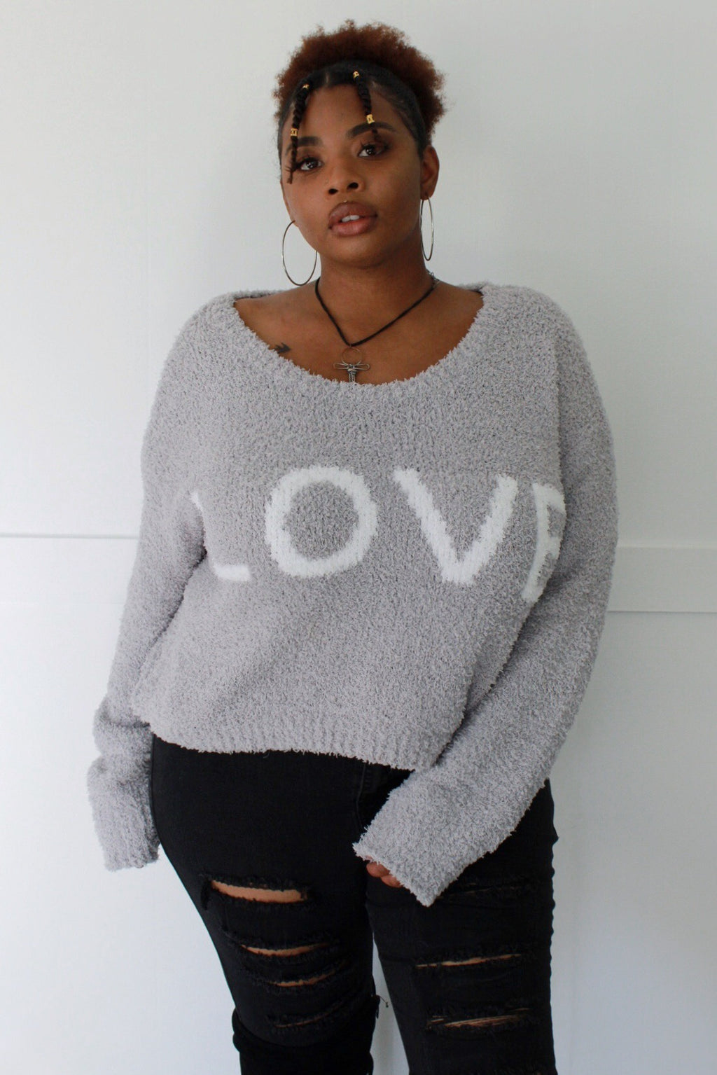 Fall in Love Cropped Sweater