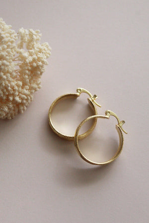 Linda Chunky Textured Hoop Earrings