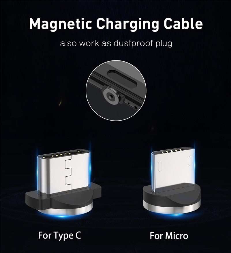 Fast Charging Cable Magnetic Smartphone - Bustle Corner