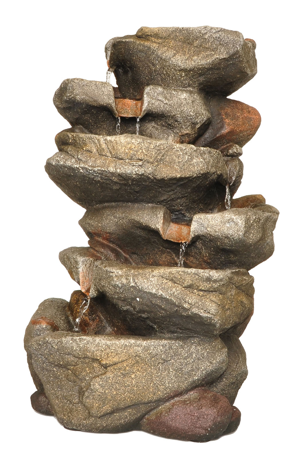 "Zenvida Rock Waterfall Fountain, 19"" with LED Lights"