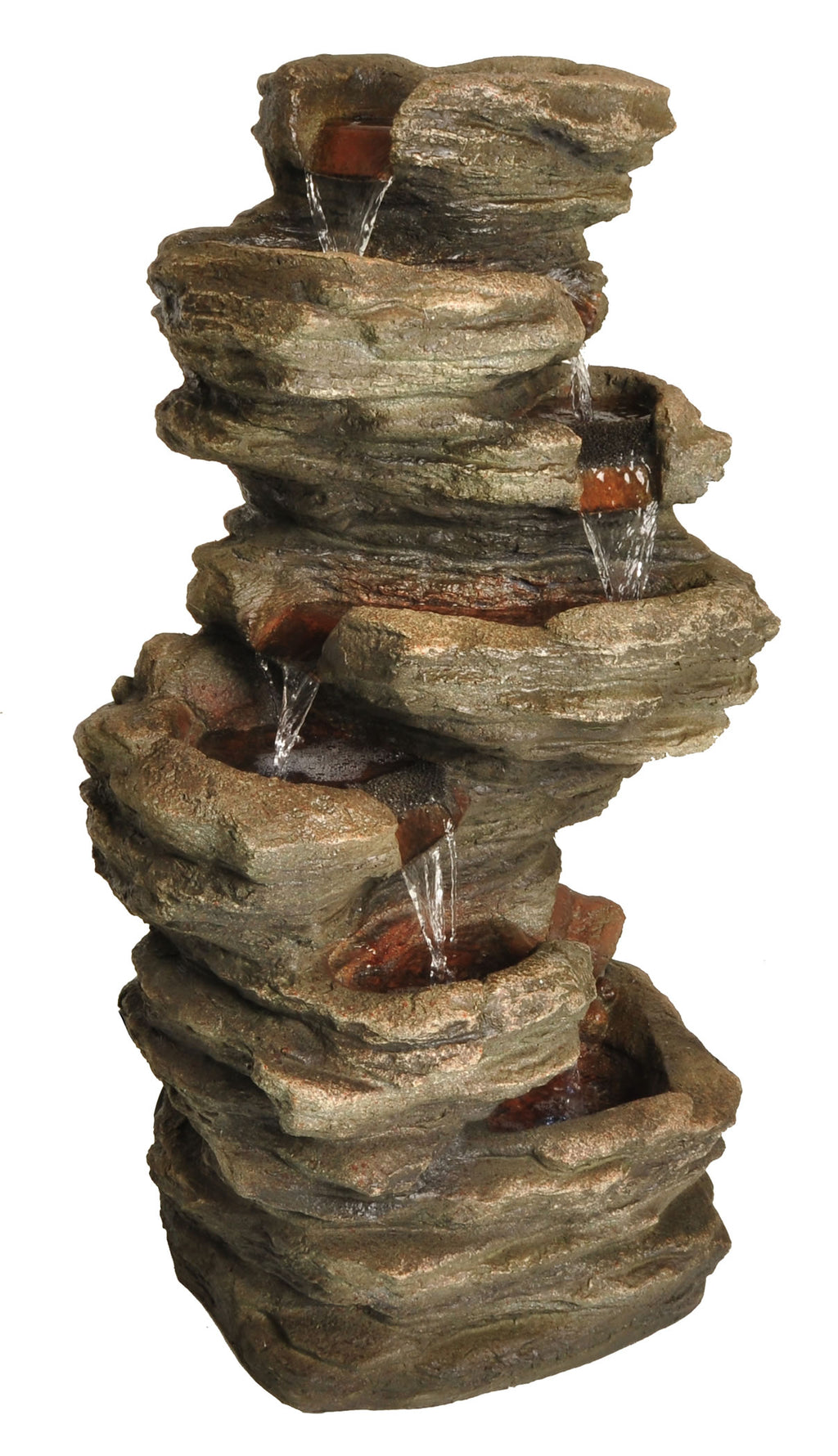 Zenvida Stone Cascading Waterfall Outdoor Garden Fountain 32""
