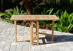Zenvida Teak Dining Table, Folding 51""