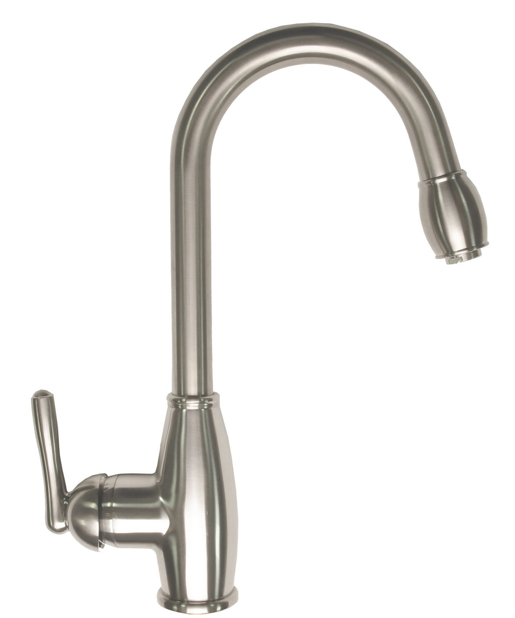 Zenvida Single Handle Pull Down Kitchen Faucet Brushed Nickel