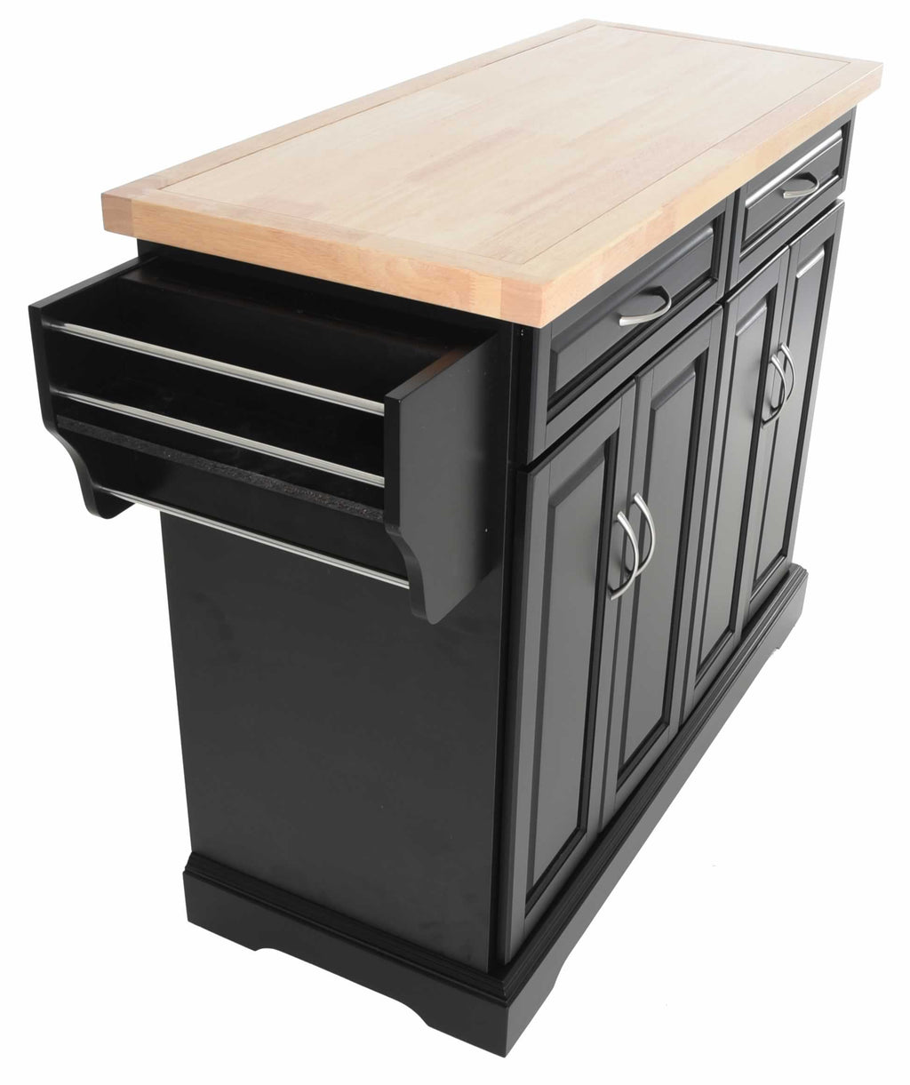 Zenvida Kitchen Island Cart With Wood Top