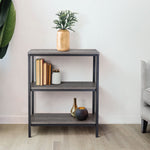Zenvida Bookshelf 3 Tier Industrial Shelves Rustic Modern Metal Etagere Bookcase
