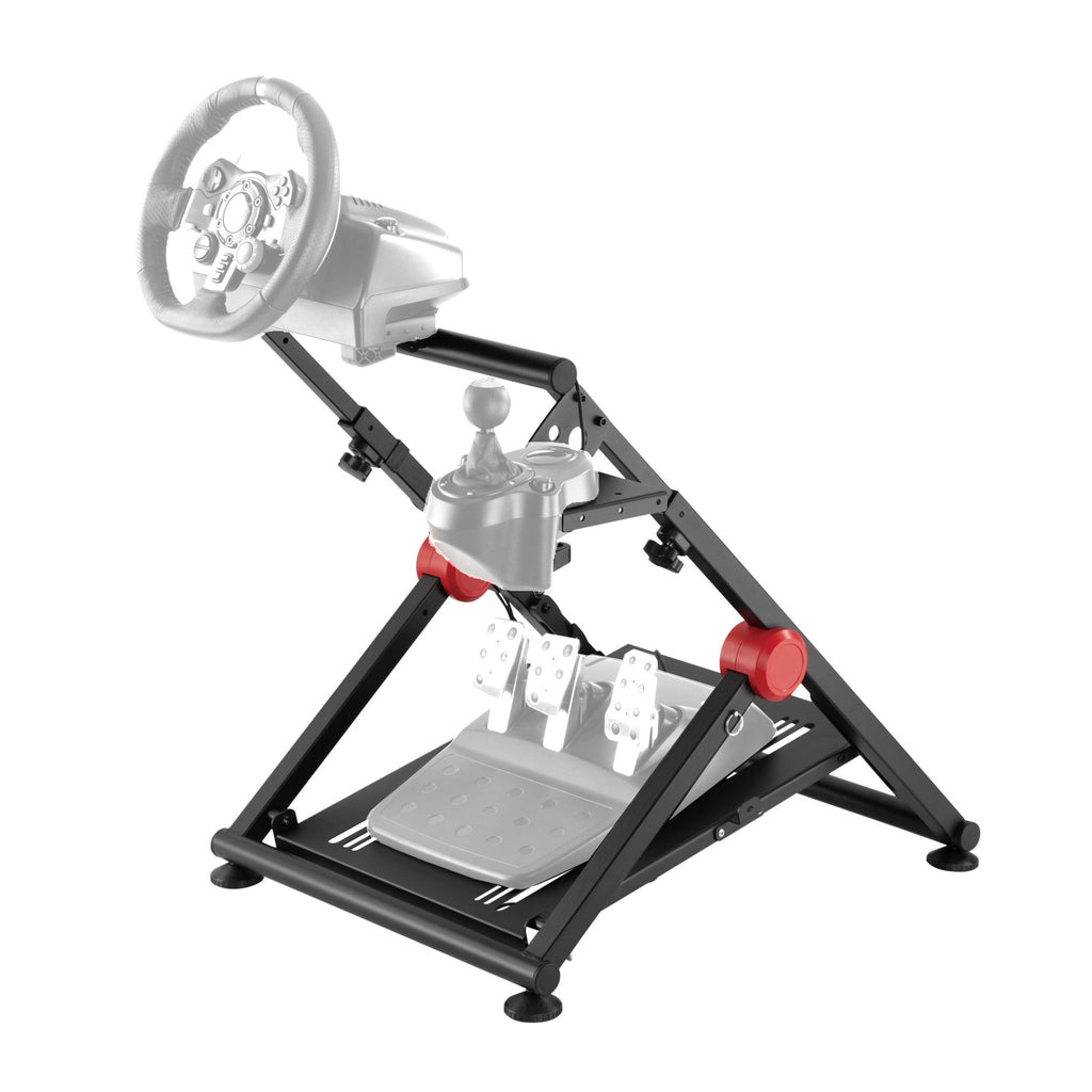 Conquer Racing Steering Wheel Stand and Gear Shifter Mount Foldable Adjustable Driving Simulator Gaming Cockpit