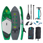 "Aztron SIRIUS White Water/SURF Inflatable SUP 9'6"" Double Chamber & Layer with Adjustable Aluminum Paddle and Leash"