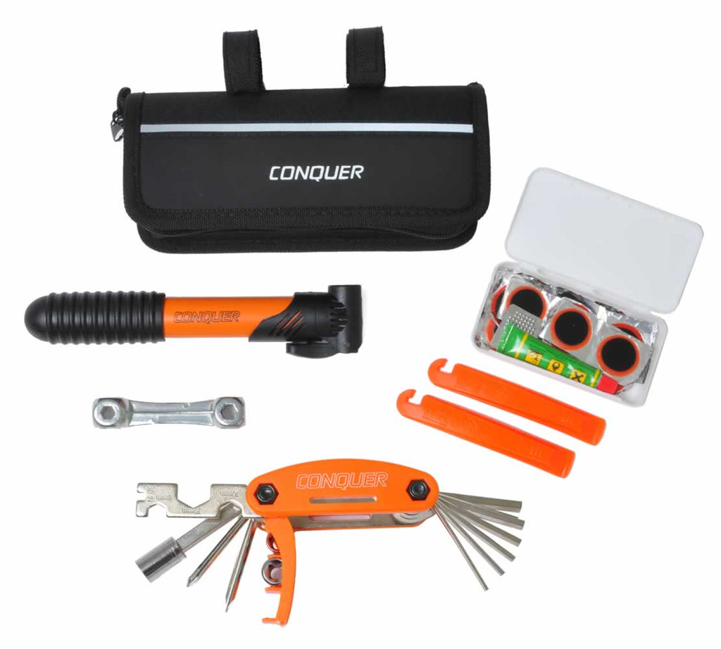 Conquer Compact Bike Repair Tool Kit, 29 Bicycle Tools