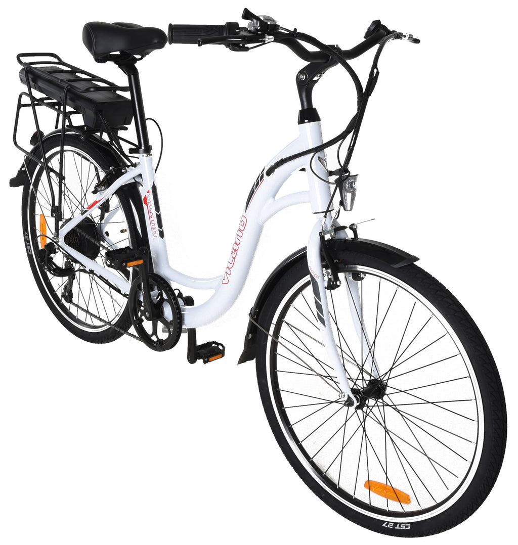 "Vilano Pulse  Electric Step Through Urban Commuter - 26"" Wheels Comfort Bike"