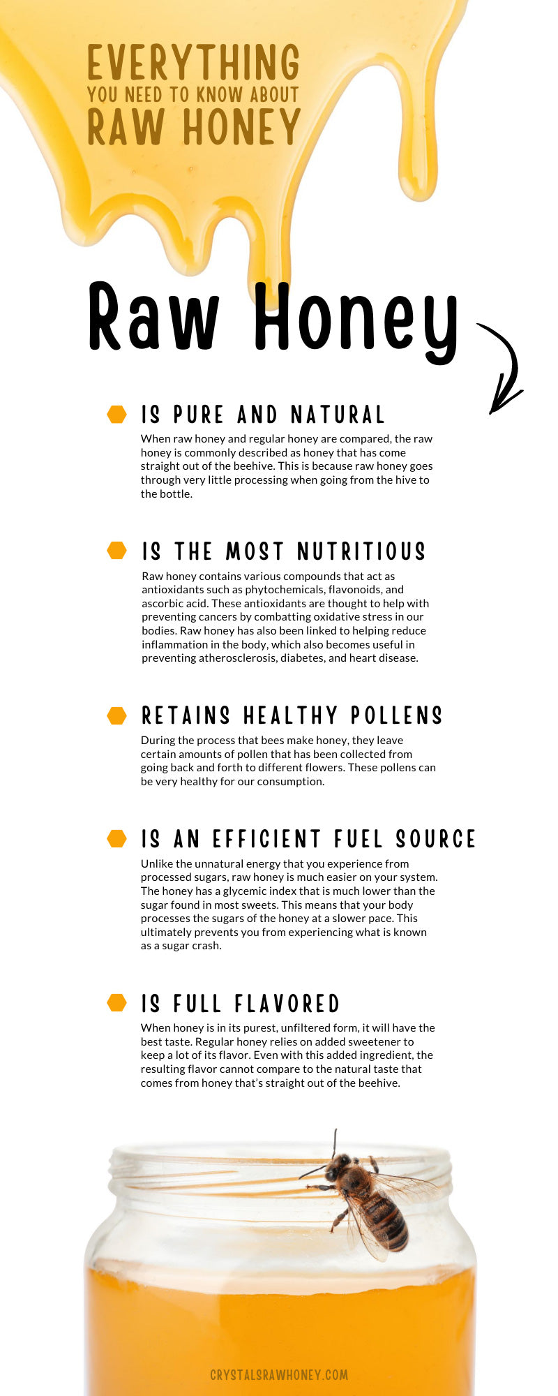 Everything You Need to Know About Raw Honey Infographic