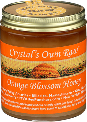 Raw Orange Blossom Honey 8.8 oz