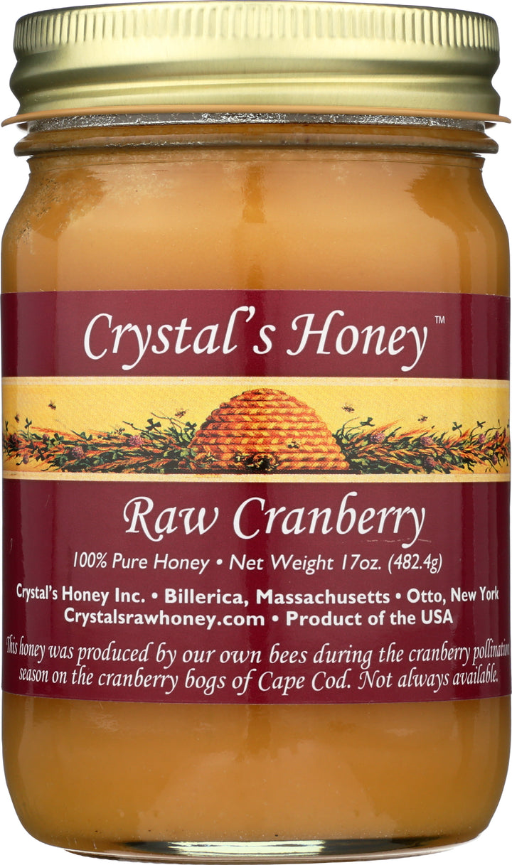 Raw Cranberry Honey 17 oz.