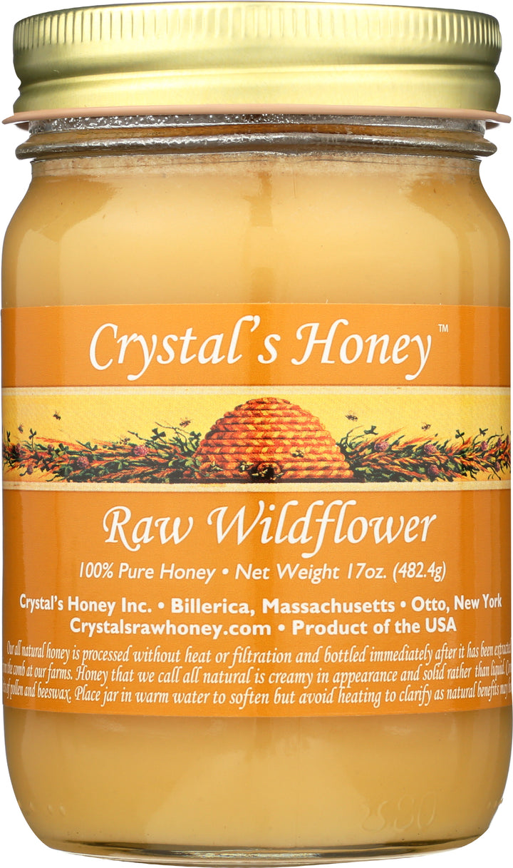 Raw Wildflower Honey 17 oz.