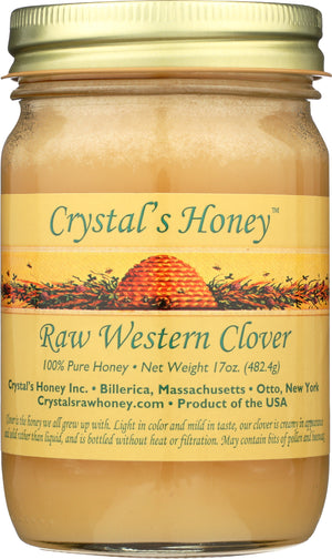 Raw Western Clover Honey 17 oz.