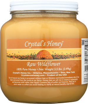5.5lb Raw Widflower Honey Jar