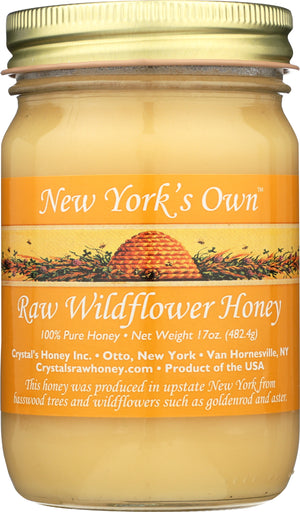 New York Raw Wildflower Honey 17oz.