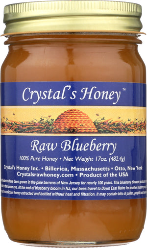 Raw Blueberry Honey 17 oz.