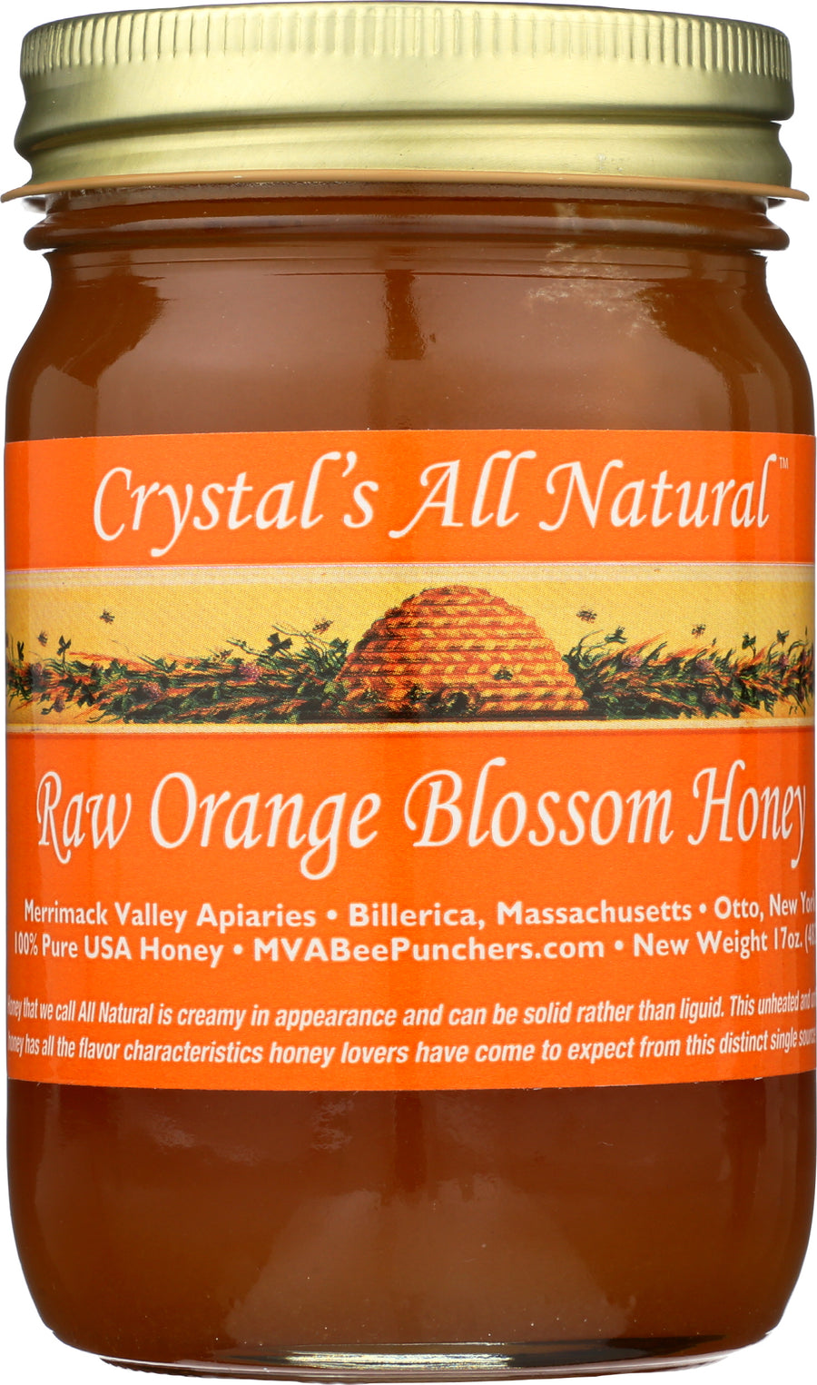 Raw Orange Blossom Honey 17 oz.