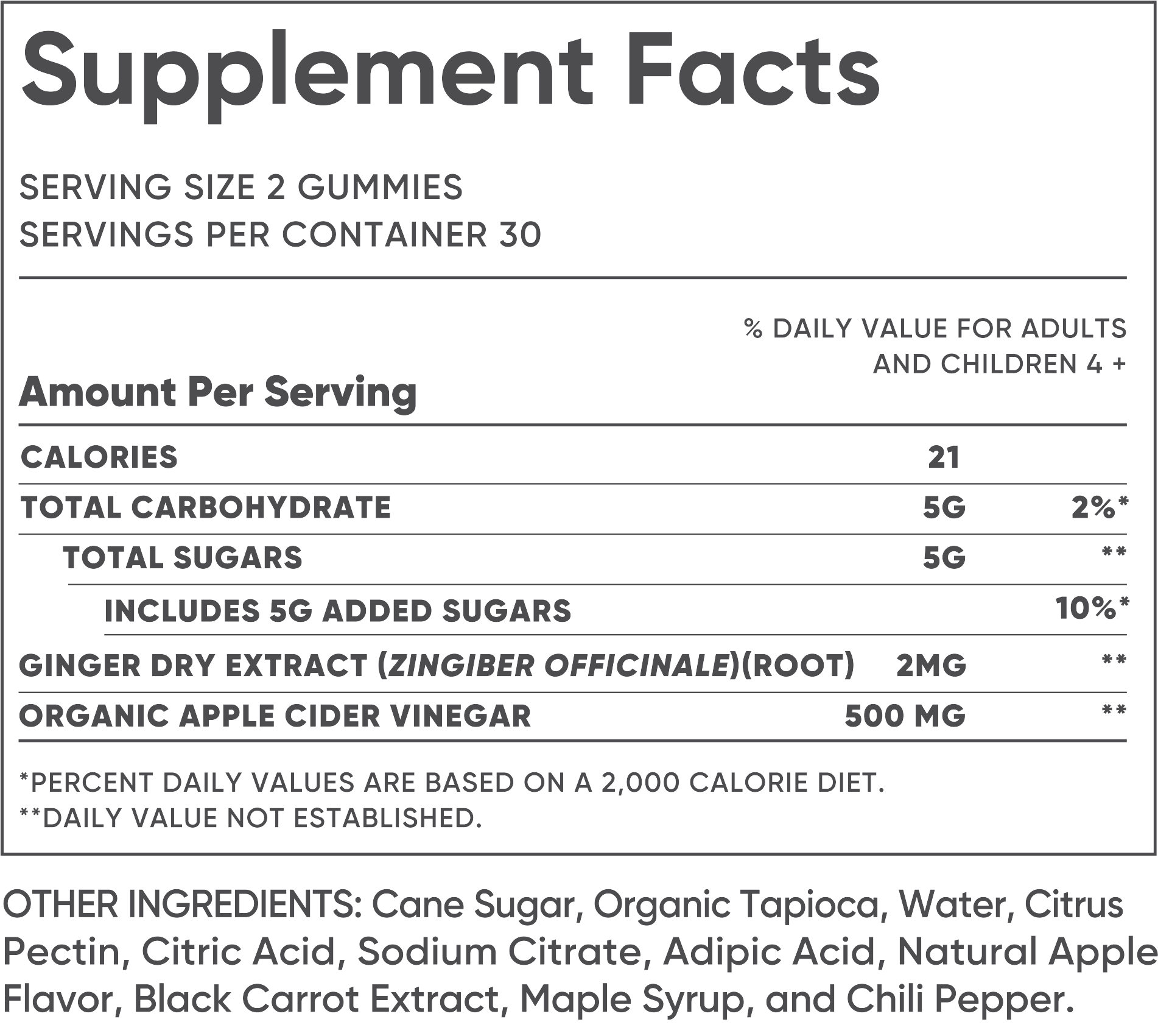 Glow Nutrition Supplement Facts