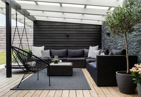 Outdoor Area with Minimalist Furnishings