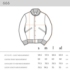 NOMOI 666 JACKET - Sizing