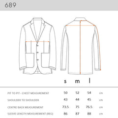 689 JACKET SIZING