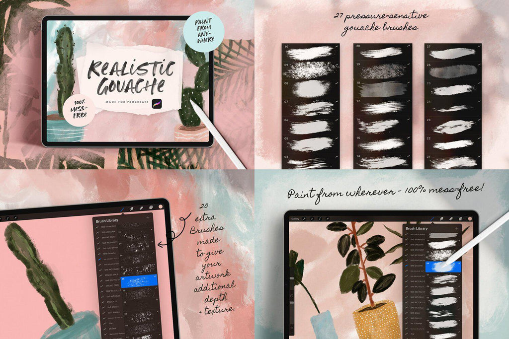 428 Procreate Brushes | ULTIMATE PROCREATE BUNDLE