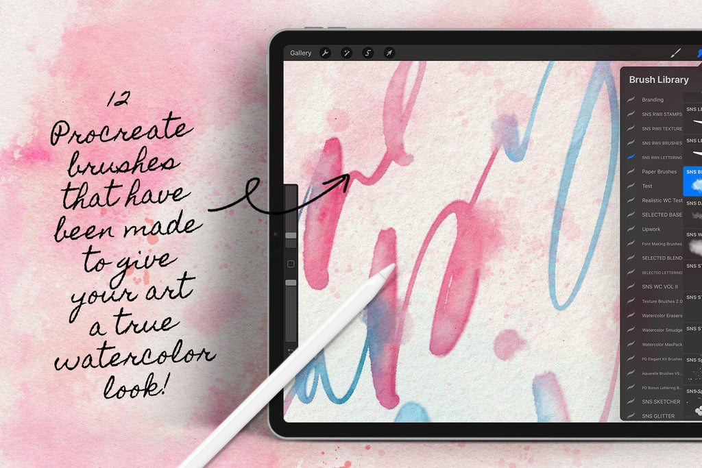 Watercolor Lettering Kit
